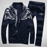 2019 Men Jacket+Pants Tracksuit Set Spring Print Sudaderas Hombre Mens Sportwear Suits Long Sleeve Streetwear Man Tracksuits