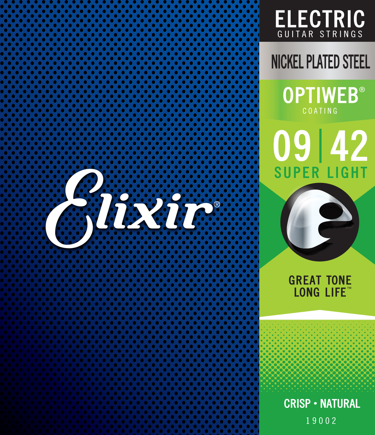 Elixir String Electric Nickel Plated Steel Strings With OPTIWEB Coating, ALL Model