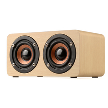 цена на HOT-Retro Wooden Bluetooth Speaker HIFI Wireless Dual Loudspeakers 3D Surround Speaker