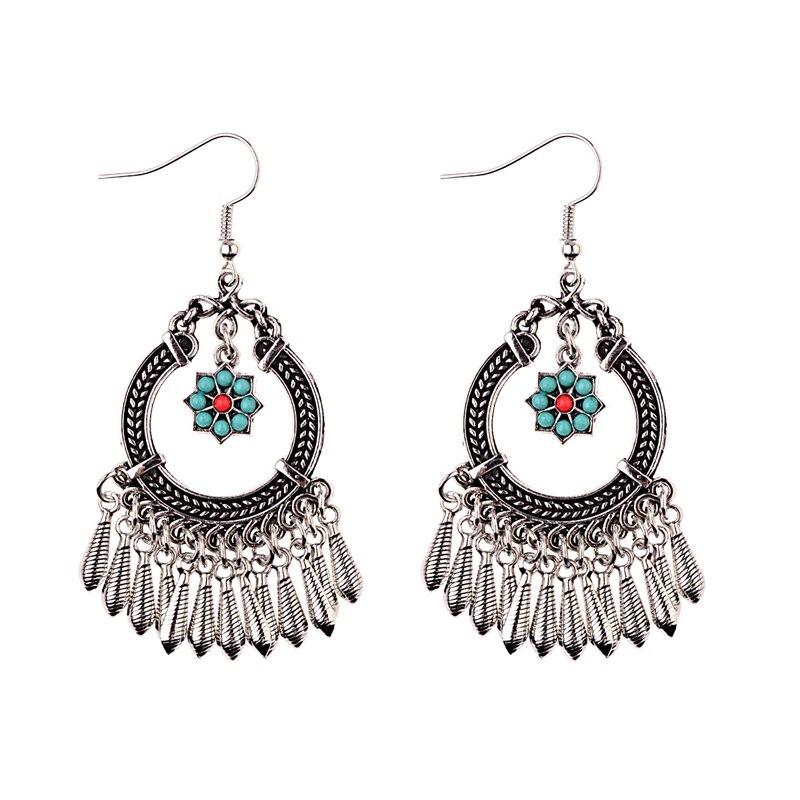 2020 perempuan Perunggu / Warna Silver Vintage Etnis Jhumka Jhumki - Perhiasan fashion - Foto 5