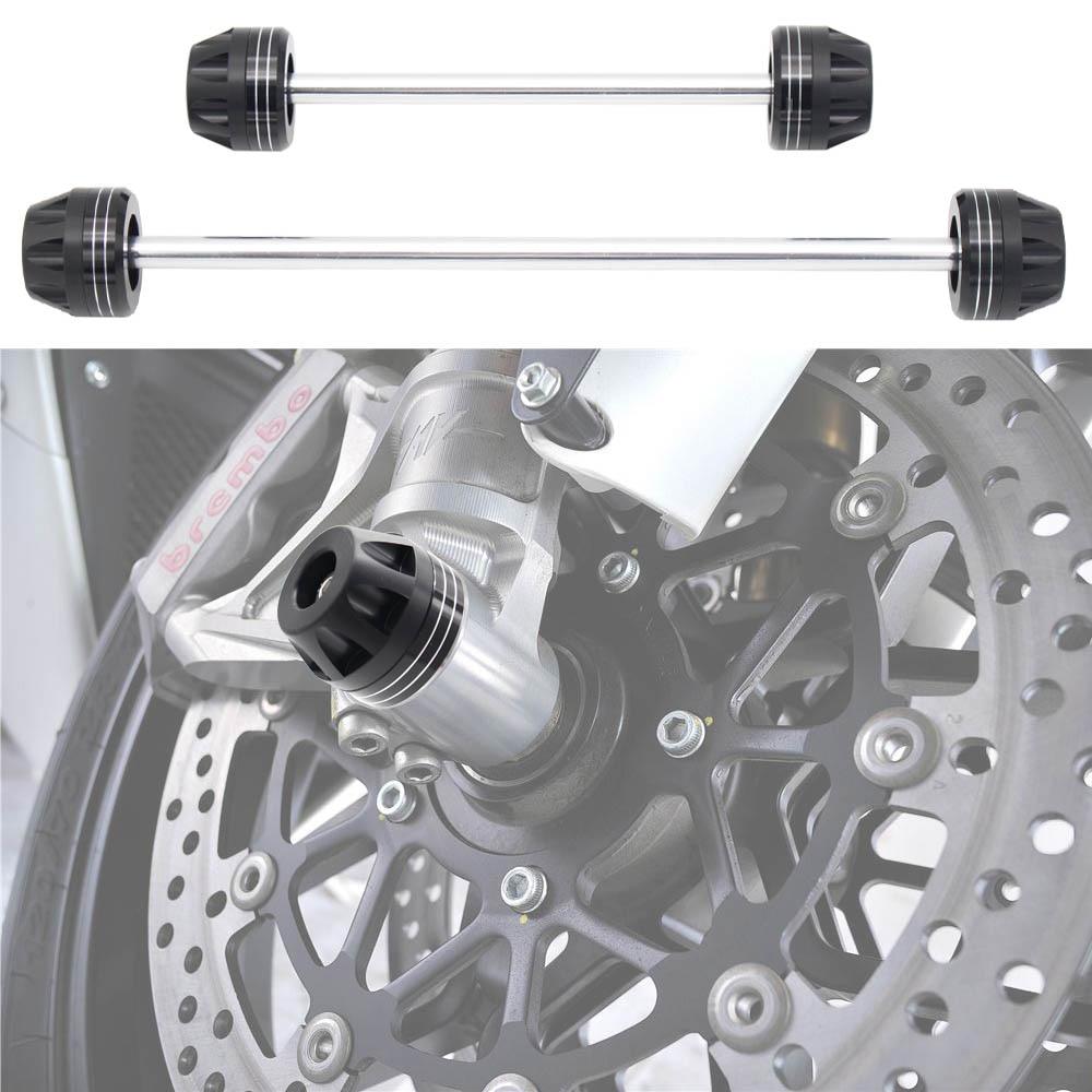 Motorcycle Aluminum Front Rear Axle Fork Crash Sliders Wheel Protector For YAMAHA MT-10 MT10 FZ-10 2016-2017Motorcycle Aluminum Front Rear Axle Fork Crash Sliders Wheel Protector For YAMAHA MT-10 MT10 FZ-10 2016-2017