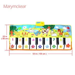 Image 5 - 135X58CM大サイズミュージカルマットベビー動物テーマ教育学習おもちゃ子供infantil演奏タイプ音楽マット