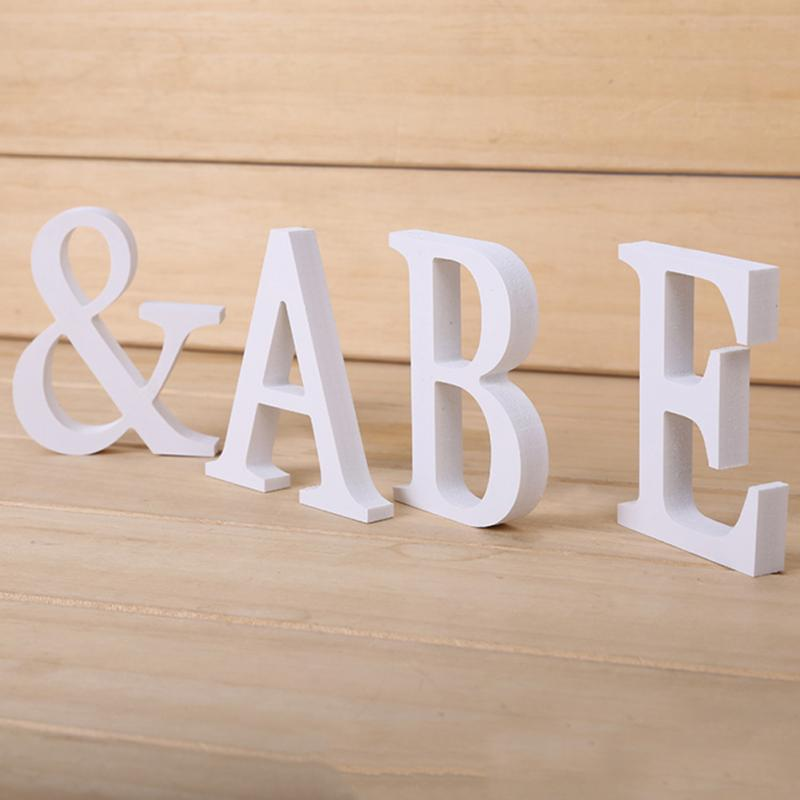 Creatively Wood Letter Figurines Miniatures Wooden Letters Alphabet Word Bridal Wedding Party Decoration Tool #0608(China)