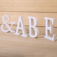 Креативно дерево письмо фигурки-миниатюры деревянные буквы алфавит слово Свадебные украшения инструмент #0608