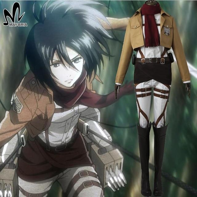Attack on titan mikasa ackerman cosplay costume halloween costume for women hot anime cosplay shingeki no