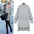 Европейский Женщины Моды Зима Свободные Свитера Женский Street Style Свободные Пуловеры Плюс Размер Мохер Свитера