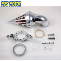 Motorcycle Parts Air Cleaner Filters Kit for CV Carburetor Chrome