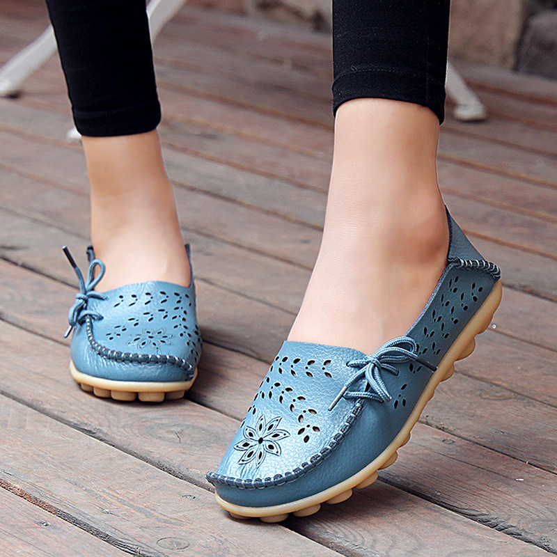 Summer Women Flats Genuine Leather Slip On Cut-Outs Women Shoes Moccasins Loafers Soft Driving Shoes Footwear Soft Ladies Shoes Summer Women Flats Genuine Leather Slip On Cut-Outs Women Shoes Moccasins Loafers Soft Driving Shoes Footwear Soft Ladies Shoes