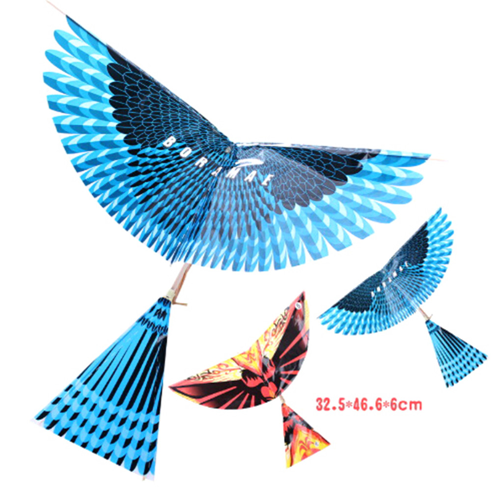 New DIY Outdoor Toys Rubber Band Power Handmade Bionic Air Plane Ornithopter Birds Models Science Kite Toys For Childrens