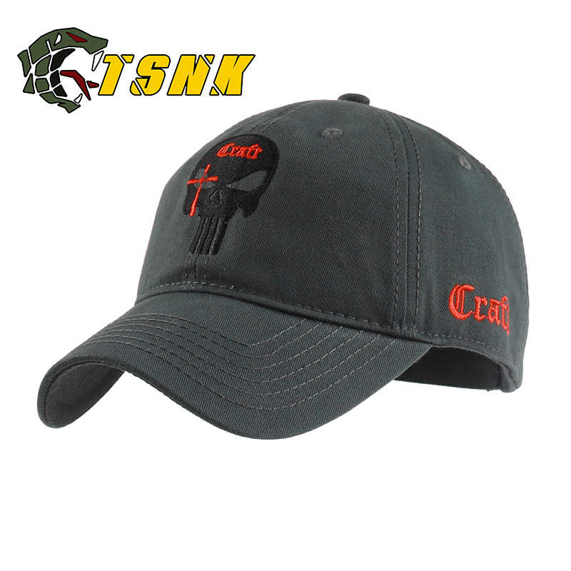 e098de52c10 TSNK Cotton Baseball Cap branded women men Tactical army caps Seals  Punisher American Sniper baseball hat