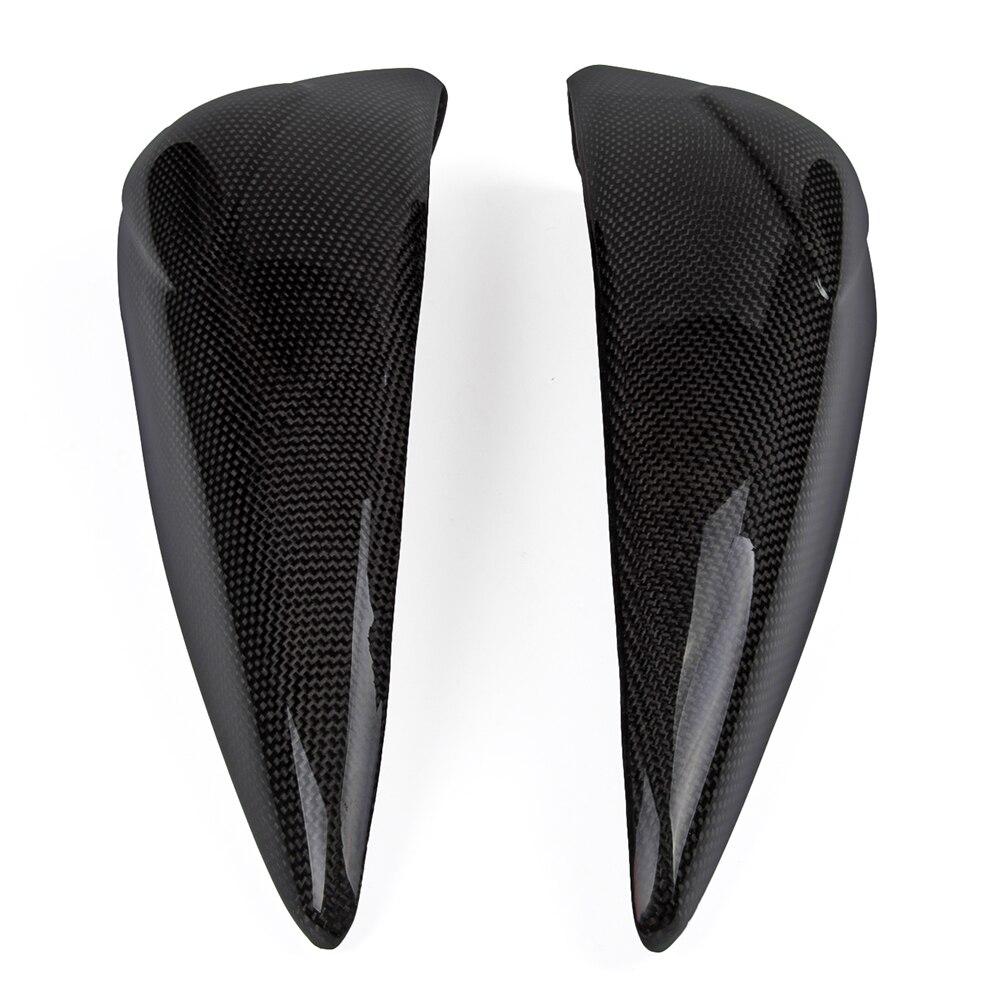 R Carbon Fiber Fibre Heel Foot Guard Plate Sheild Protectors 2007 2008 2009 2010 2011 2012 Triumph Street Triple 675