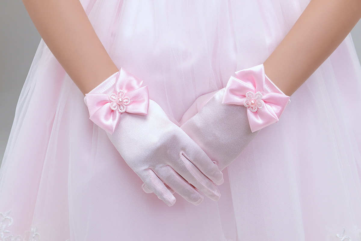 Image 5 - 10pc/ lot Kid child flower girl short gloves white red pink student lace glove costume dacning glove free shipping wholesalelace gloveswholesale lace glovesgloves white -