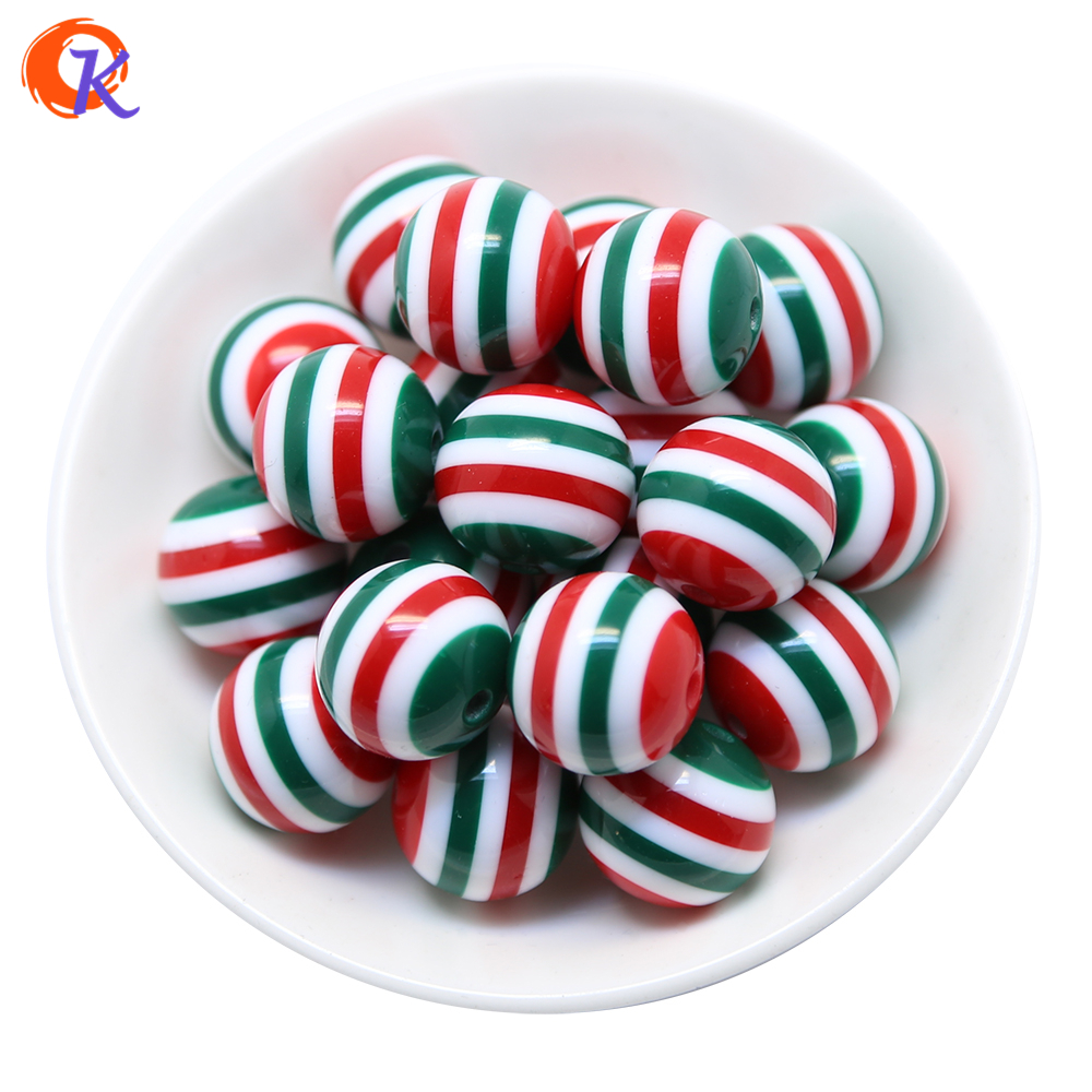 Cordial Design 20MM100pcs/lot Green And Red And White Chunky Resin Stripe Beads For Chunky Christmas Necklace Jewelry Making blue and white stripe pattern shirt in fashion design