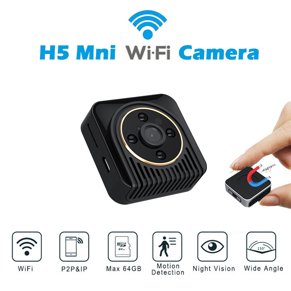 H5 WiFi Mini Live Camera AP P2P IP Connect HD 720P Camcorder Night Vision Motion Sensor Video Audio Recorder Webcam Micro Cam