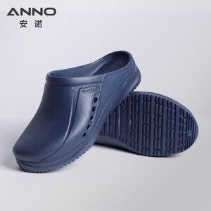 Image 3 - ANNO Soft Work Breathable Shoes for Women Men Light Nurse Clog Anti slip Slipper Flat Hospital Kitchen Beatuty Salon