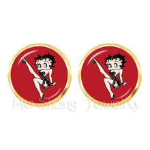 Cute Cartoon Multiple Color Selectable Best Friends Stud Earring 2018 New Lovely Sexy And Charming Betty Boop Stud Earrings