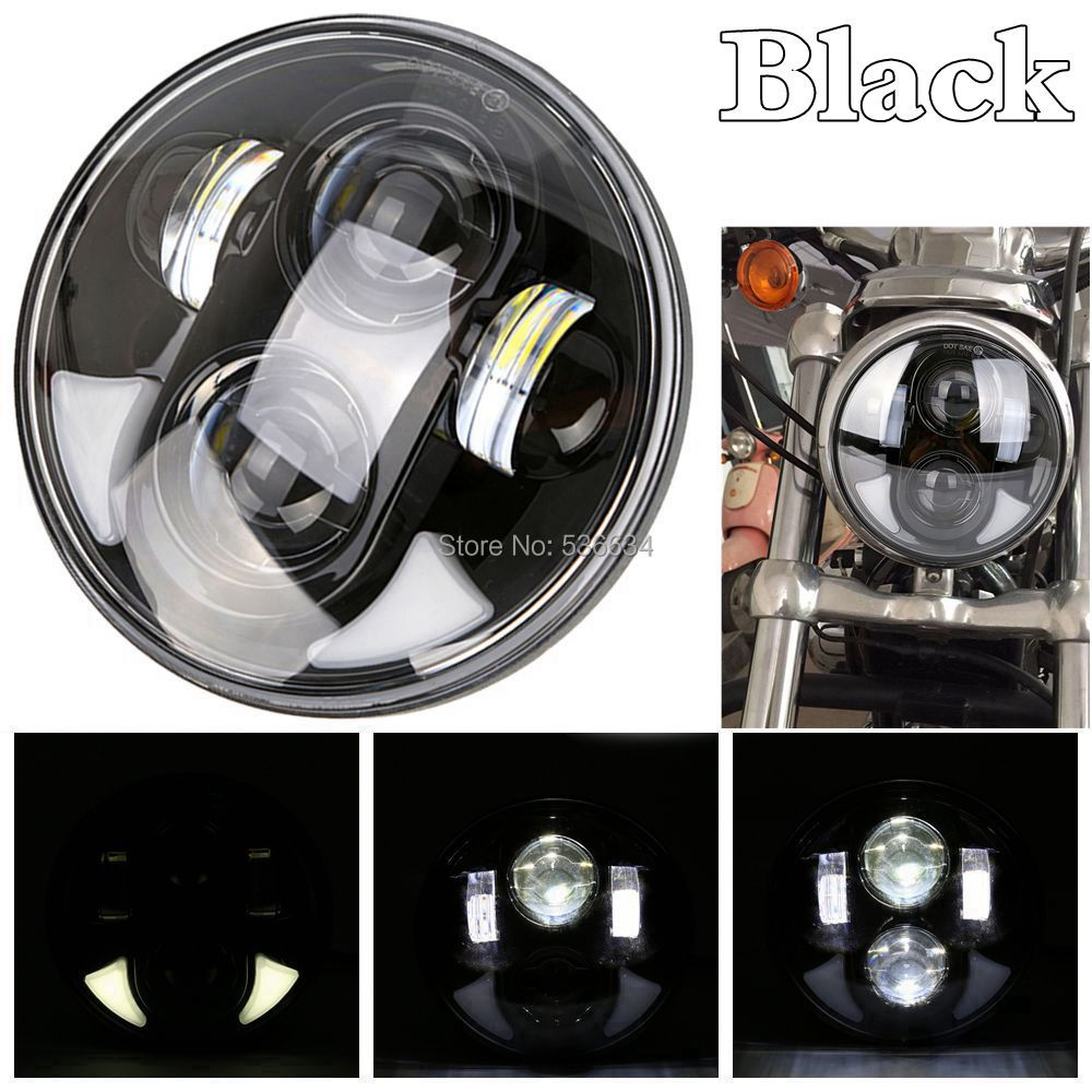 5-3/4 5.75 Inch Daymaker Projector LED Headlight For Harley Softail Dyna Sportster Models,2013-2016 Breakout FXSB