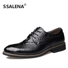 Men Oxford Lace Up Business Dress Shoes Men Pointed Toe Formal Wedding Shoes Man Breathable Flat Classic Shoes AA50148