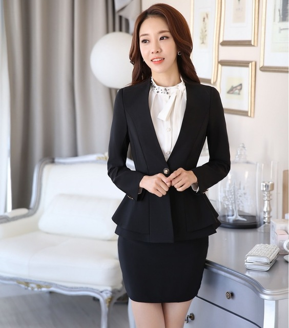New Arrival 2016 Professional Formal Blazer Women Business Suits OL Styles  Office Work Wear Sets Female 212ec96c21