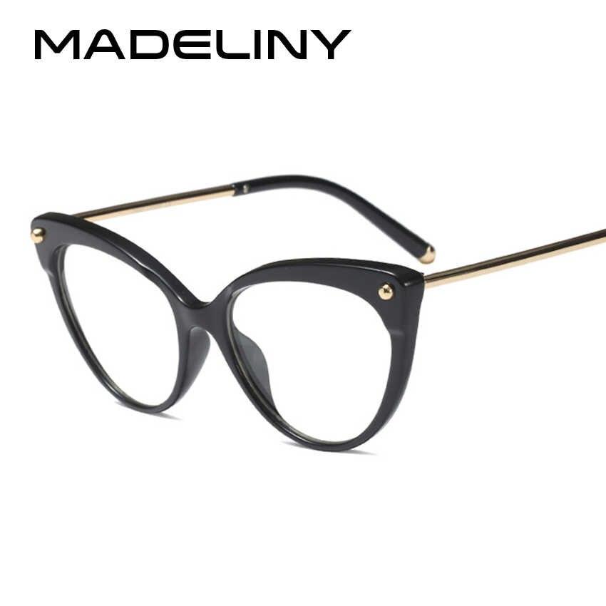 b0460c2059 ... MADELINY 2018 New Cat Eye Women Eyeglasses Frame Fashion Vintage TR90 Transparent  Optical Glasses lentes opticos ...
