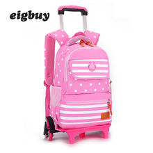 Trolley Backpack Schoolbag Luggage Book Bag Latest Removable Children School Bags 2/6 Wheels Stairs Kids Boys Girls Backpacks kids boys girls trolley schoolbag luggage book bags backpack latest removable children school bags with 2 wheels stairs