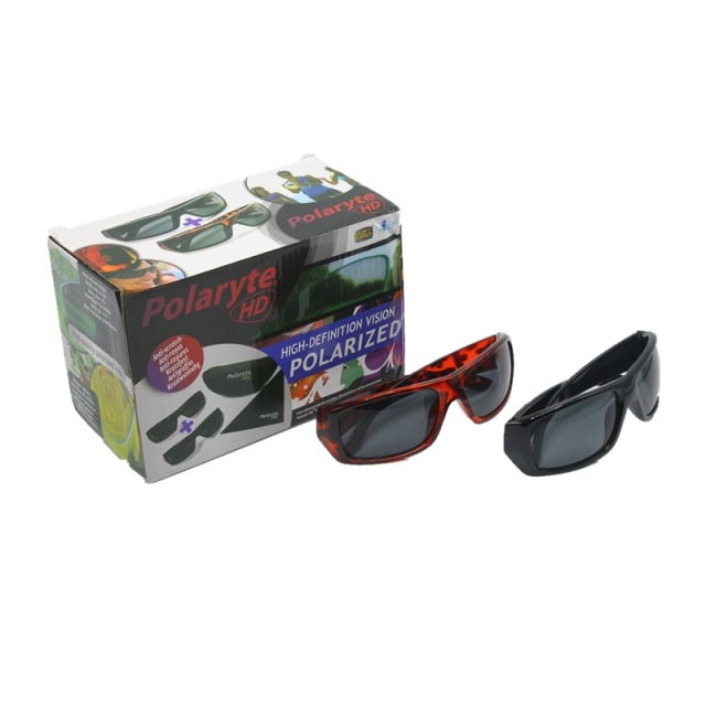 e64bce2e263 2 IN 1 BOX POLARYTE HD SUNGLASSES ANTI SCRATCH USEFUL FOR CYCLING DRIVING