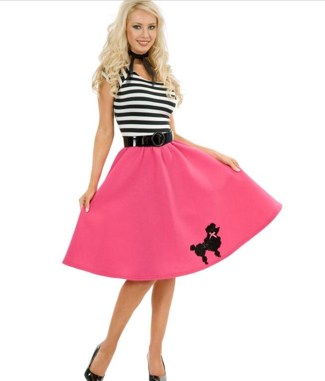 halloween costume for women womens plus size 2xl stripe 50s grease rock n roll fancy dress - Greece Halloween Costumes
