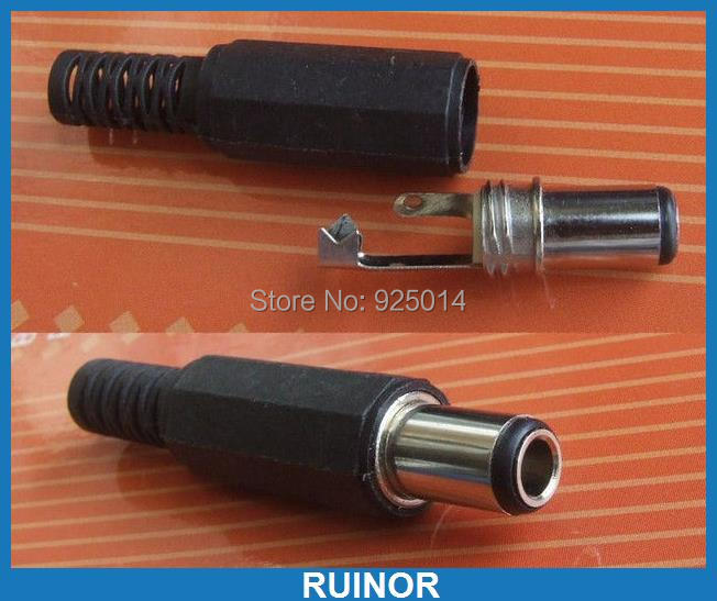 100 pièces 6.0mm x 3.5mm jack DC fiche mâle pour connecteur d'alimentation adaptateur tête en plastique