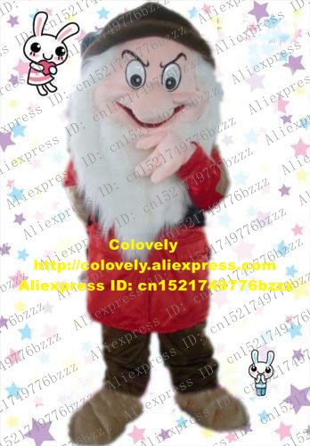 US $195 7 5% OFF|Vivid Red The Seven Dwarfs Grumpy Mascot Costume Mascotte  Gnome Sieben Zwerge With Red Coat Brown Hat Pants No 721 Free Ship-in