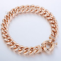 10MM CURB CUBAN BRACELET Personalized Mens Boys Bracelet Rose Gold Filled Bracelet Chain Bulk Sale Jewelry LGB79