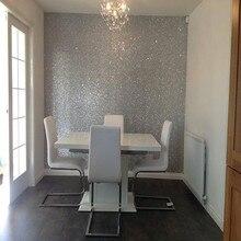 10 м один рулон 138 см ширина домашний декор обои серебряный блеск обои для стен обои S1001