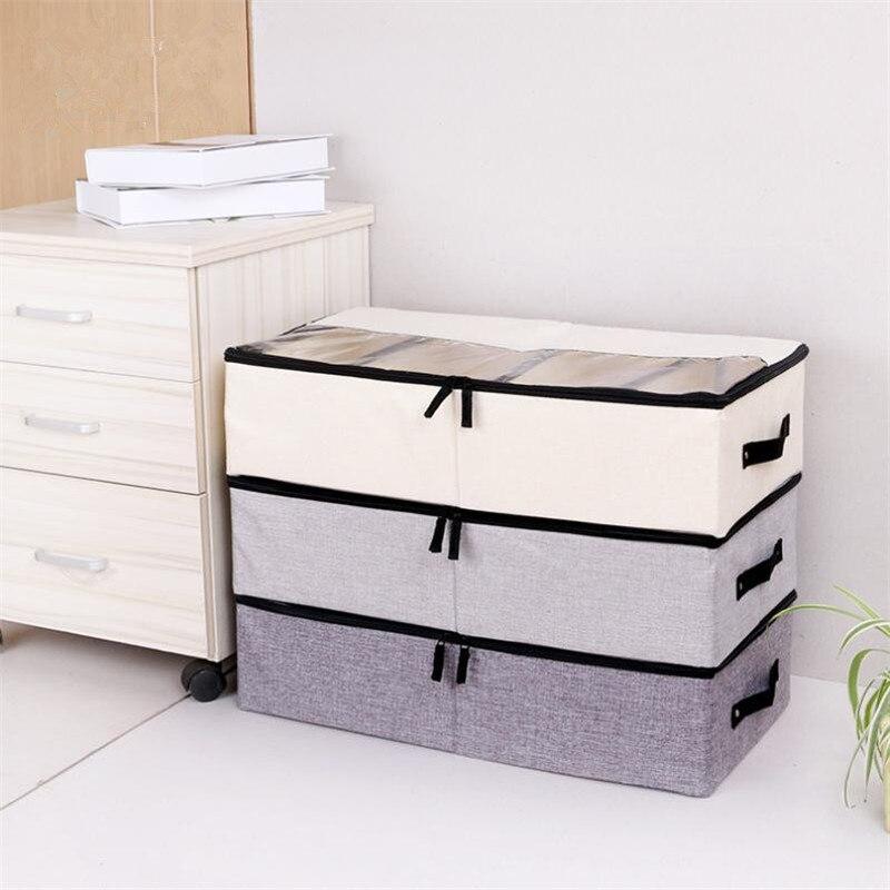 LASPERAL Foldable Storage Box For Shoes Wardrobe Closet Organizer Sock Bra Underwear Cotton Storage Bag Under Bed Organizador