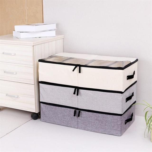 LASPERAL מתקפל תיבת אחסון נעלי ארון בגדים ארון ארגונית גרב חזיית תחתוני כותנה אחסון תיק תחת מיטת Organizador