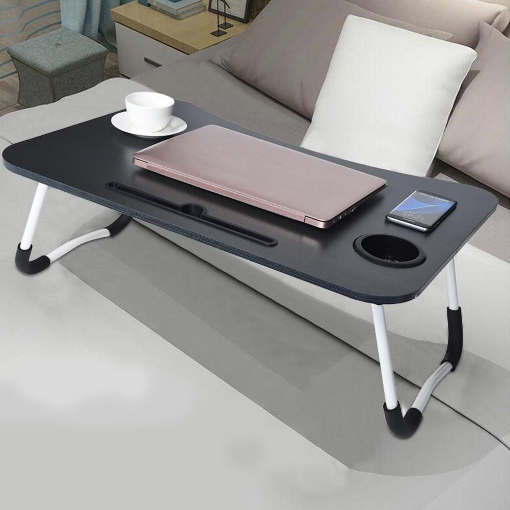 Foldable Portable Laptop Stand Bed Lazy Laptop Table Small Desk Breakfast Tray Furniture Computer Desk Folding Lazy Laptop Desk