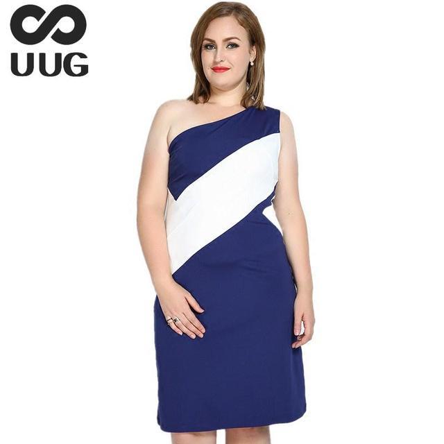 Plus Size 6xl 7xl One Shoulder Dress For Women Summer 2017 Fashion