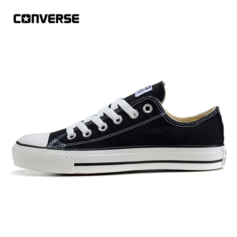 Converse All Star Classic Canvas Low Top Skateboarding Shoes Unisex Black Anti-Slippery Sneakser 35-44Converse All Star Classic Canvas Low Top Skateboarding Shoes Unisex Black Anti-Slippery Sneakser 35-44