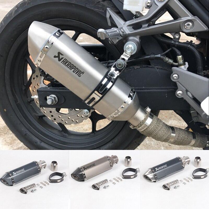 LIVRAISON GRATUITE akrapovic d'échappement moto rcycle silencieux évasion moto avec db killer Systèmes D'échappement pour honda benelli msx125 nmax EP01