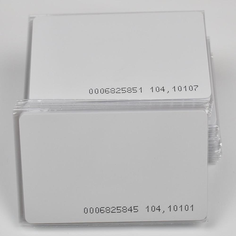 100pcs RFID Cards 125KHz EM4100 TK4100 Smart Card Proximity RFID Tag For Access Control