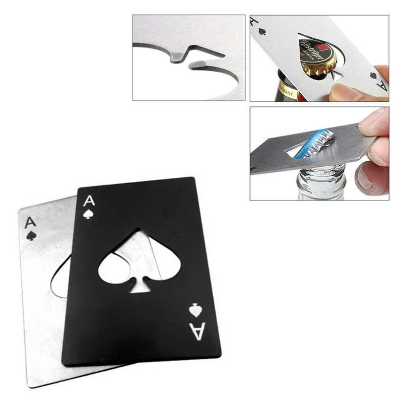 Bouteille multi multifonction poker biere gadget A carte de crédit multioutil engrenage bêche trousse portefeuille polyvalent ouvre