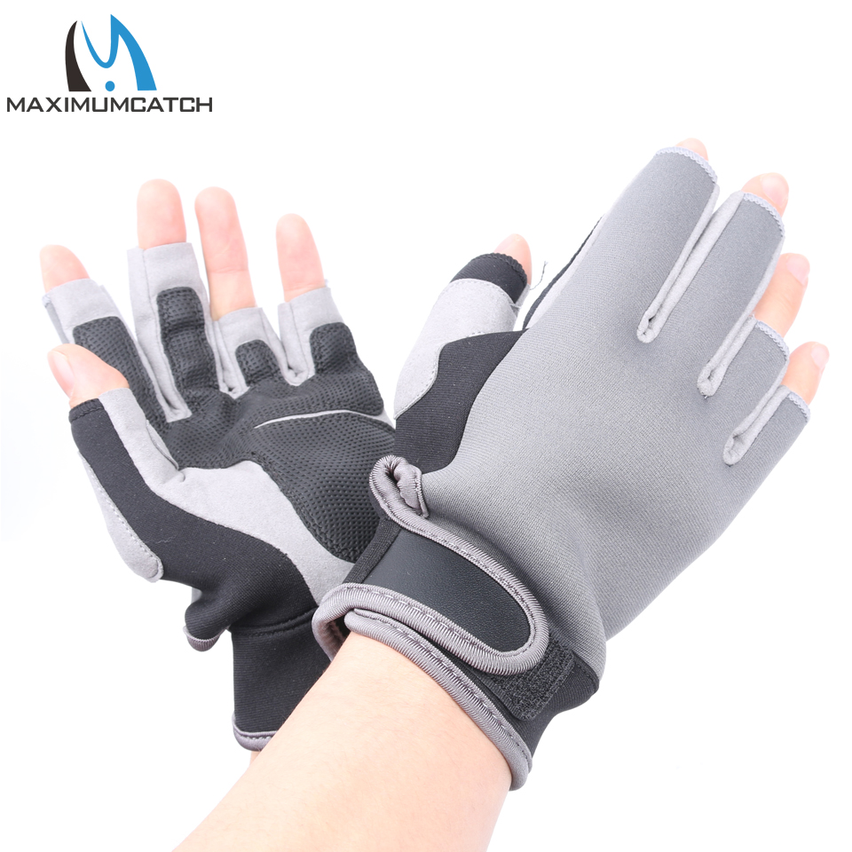 Buy maximumcatch 1 pair elastic neoprene for Neoprene fishing gloves