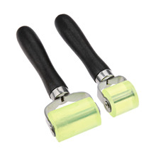 Yetaha 2pcs Car Sound Insulation Construction Silicone Roller Tools Auto Repair Maintenance Rolling Wheel Tool