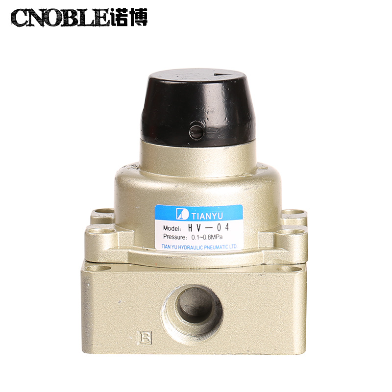 HV-04 Air Flow Control 3 Positions 4 Ways Hand Valve Fndvi Discount 50 high quality 1 4 4v220 08 5 ways 2 positions air control solenoid valve dual head
