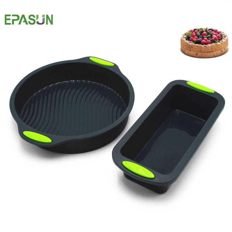 EPASUN 2 teile/satz Silikon Brot Backform Kuchen Toast Form Backen Kuchen Pfannen Gerichte für Kuchen Backformen Tablett Dekorieren Kuchen werkzeug