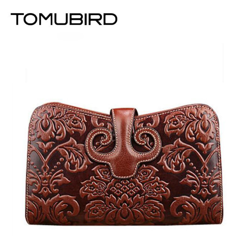 TOMUBIRD 2017 new fashion superior leather designer bag famous brand women bags evening bag embossed genuine leather clutch bag