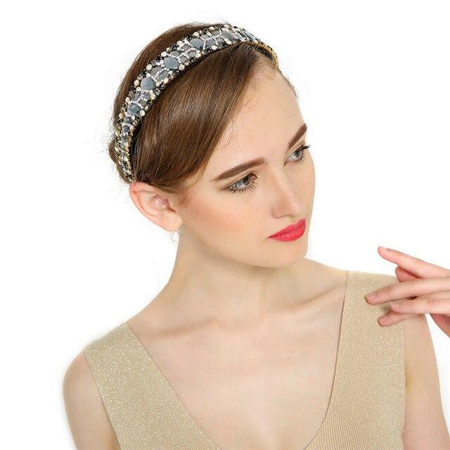 New Arrival Women Luxury Rhinestone  Bands Broadside High Grade Crystal Headband Mommy Girlfriend Gift Hair Accessory