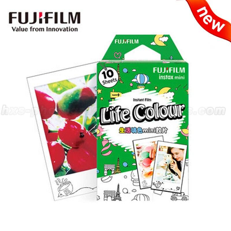 New Life Colour Fujifilm Instax Mini Film DIY Photo Paper 10 for Fuji Instant Mini 9 8 70 90 25 50s Cameras Share SP-1 SP-2