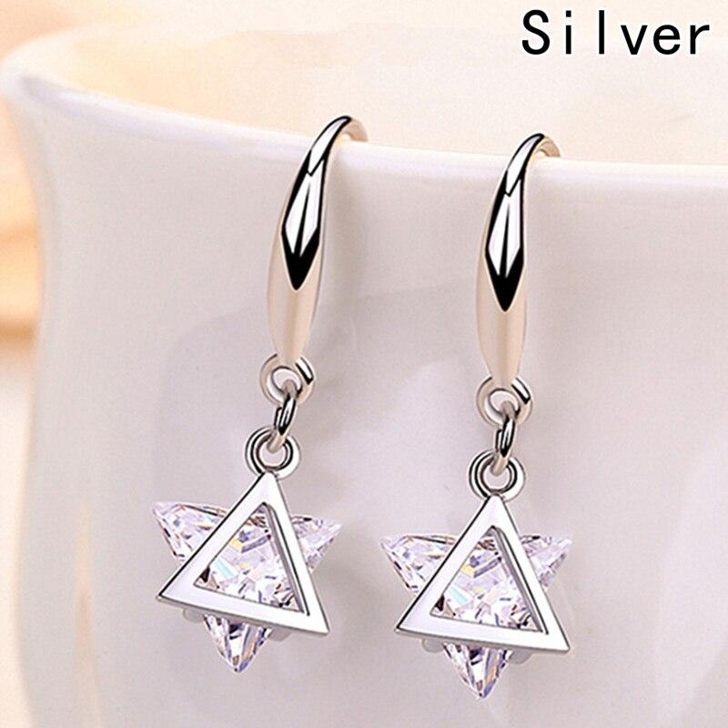 2018 Hot Sale Earrings For Women Natural Crystal Drop Earrings With Stone Zircon Earrings Fashion Jewelery