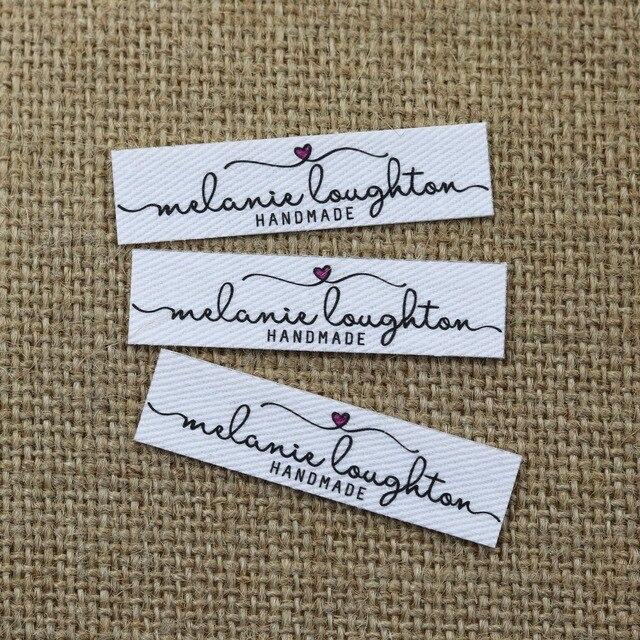 96 adet Özel logo etiketleri, Adı demir on etiket, Özel Giyim etiketleri, Organik Pamuk Etiketleri