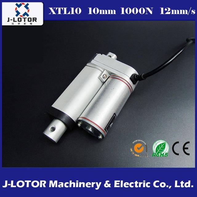 10 ММ Линейный Привод 12 В 12 мм/сек. 100 КГ Электрический Привод Толкателя Двигателя для Окон электродвигатель Постоянного клюшки или телескопический подъемник