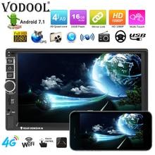 VODOOL 8802 автомобиль радио Android 7,1 2 Din 7 «сенсорный экран стерео MP5 плеер Авто GPS Bluetooth Wi-Fi камера мультимедийный плеер